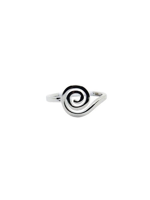 R168 - Sterling Silver Sweet Swirly Ring