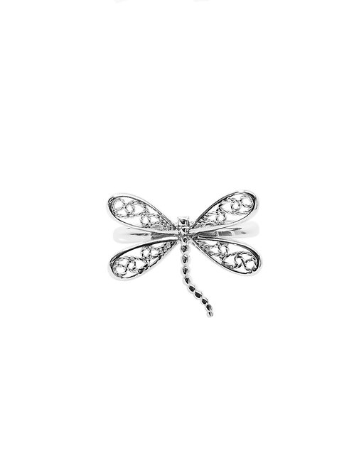 R259 - Sterling Silver Dragonfly Ring