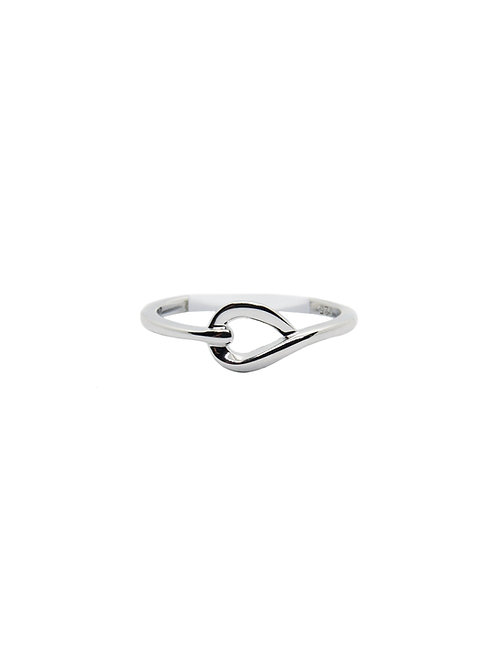 R202 - Sterling Silver Simple Knot Ring