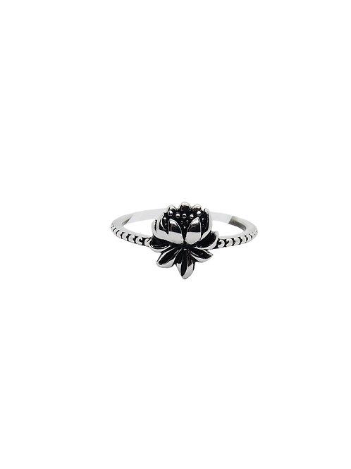 R177 - Sterling Silver Lotus Flower Ring