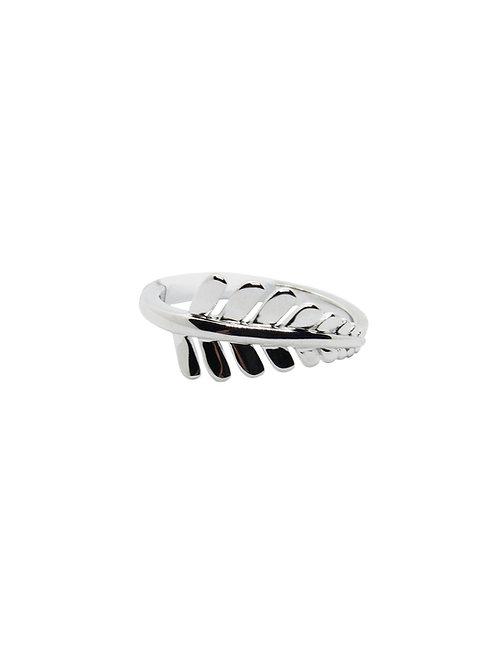 R188 - Sterling Silver Fern Leaf Ring