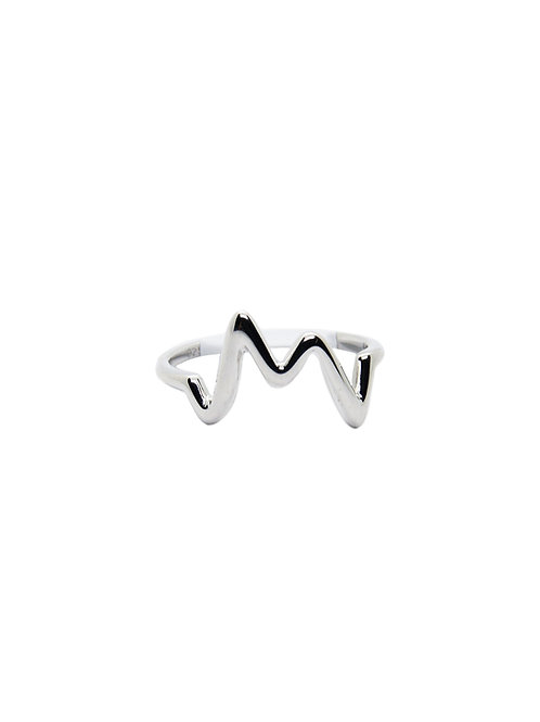 R200 - Sterling Silver Heartbeat Ring