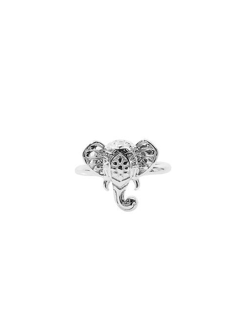R256 - Sterling Silver Elephant Head Ring