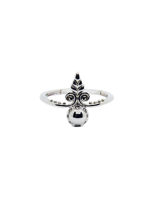 R178 - Sterling Silver Abstract Arrow Ring