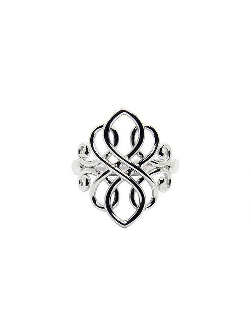 R152 - Sterling Silver Celtic Ring (Large)