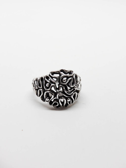 Sterling Silver Abstract Swirl Ring