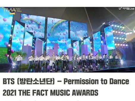 BTS (방탄소년단) 'Permission to Dance' 백업댄서활동  2021 THE FACT MUSIC AWARDS 2021 더팩트 뮤직 어워즈  [엘제이 전문반 양어진]