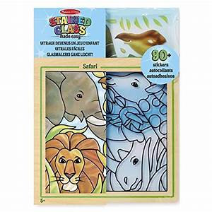 STAINED GLASS SAFARI CRAFT SET