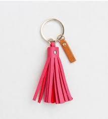Caroline Gardner Pink & Orange Tassel Keyring