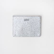 Caroline Gardner Silver Card Holder