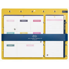 Joules Bee Magnetic Weekly Meal Planner