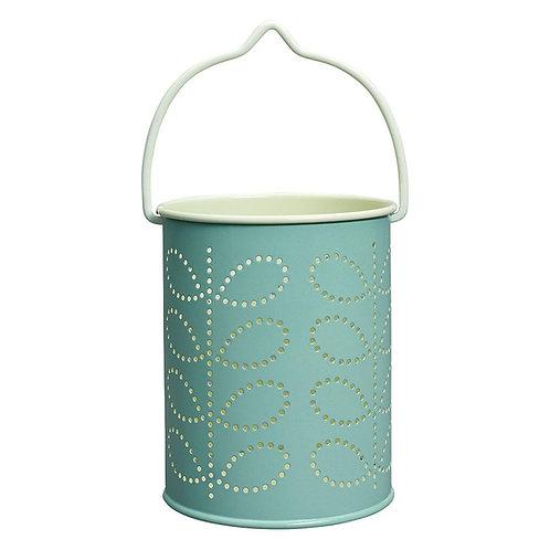 Orla Kiely Linear Tealight Lantern - Duck Egg Blue