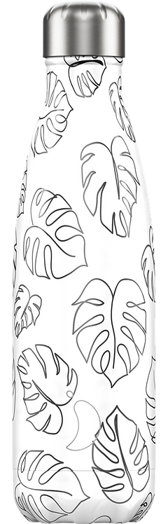 CHILLY'S BOTTLE 500ML - LINE ART LEAVES