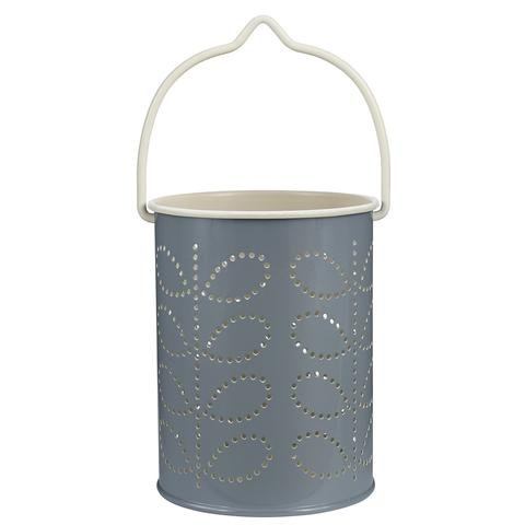 Orla Kiely Linear Tealight Lantern - Grey