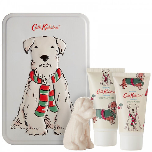 Cath Kidston Stanley Dog Toiletry Tin Gift Set