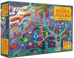 Usborne Night Time Book & 100 Piece Jigsaw