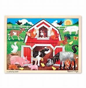 FARMYARD FRIENDS WOODEN JIGSAW PUZZLE - 48 PIECES
