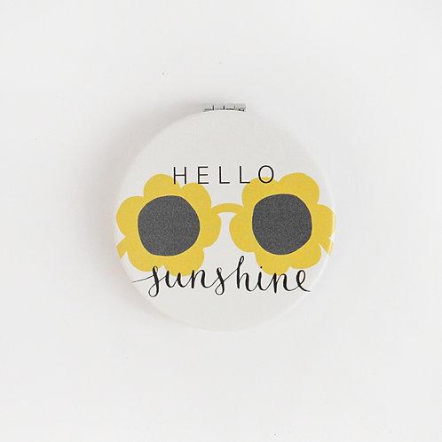 HELLO SUNSHINE COMPACT MIRROR