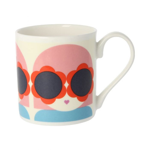 Orla Kiely Lola Red Mug