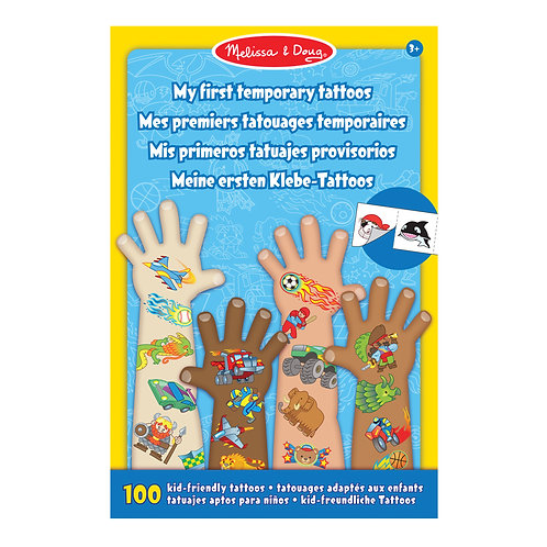 My First Temporary Tattoos: 100+ Kid-Friendly Tattoos - Adventure, Creatures, Sp