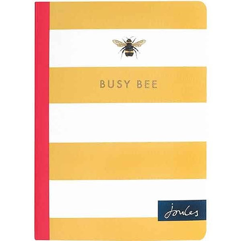 JOULES STRIPE BUSY BEE A6 NOTEBOOK
