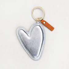 Caroline Gardner Silver Heart Keyring