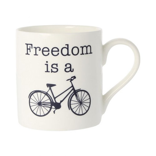 Freedom is a Bike Mug
