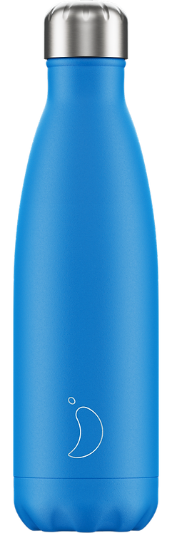 CHILLY'S BOTTLE 500ML NEON BLUE