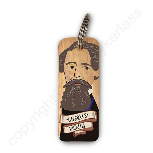 CHARLES DICKENS CHARACTER WOODEN KEYRING
