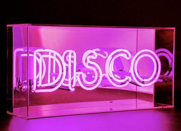 Fabulous Neon Acrylic Box Light (Disco PINK)