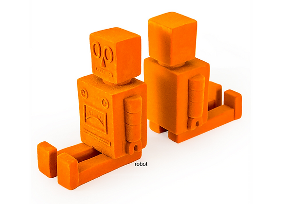Funky Flock Orange Robot Bookends (Pair)