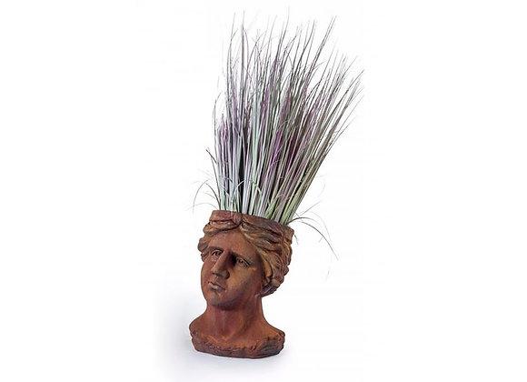 Rustic, Antiqued Classical Head Planter