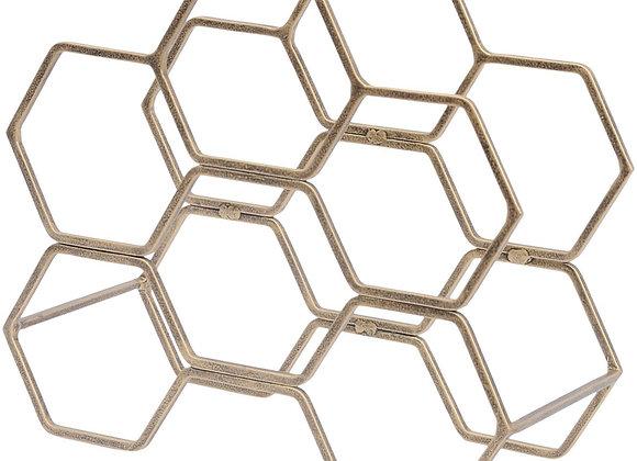 Quirky Hexagonal Wine Rack