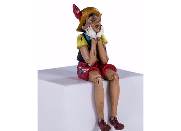 Antiqued Sitting Pinocchio Figure