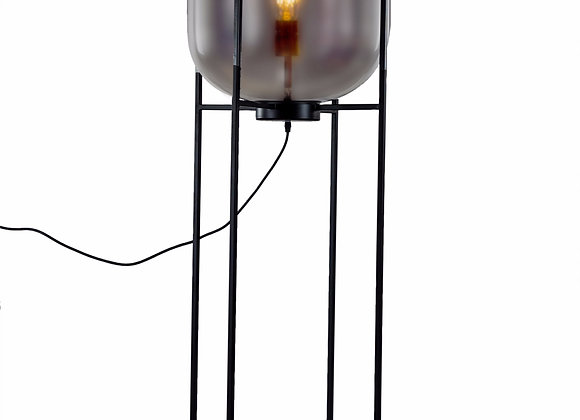 Stunning Large Smoked Glass Floor Lamp