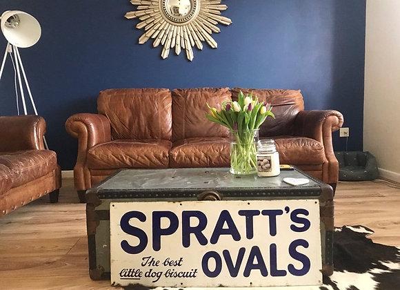 Genuine Enamel Spratts Sign