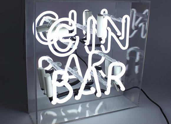 Neon Acrylic Box Light (Gin Bar)