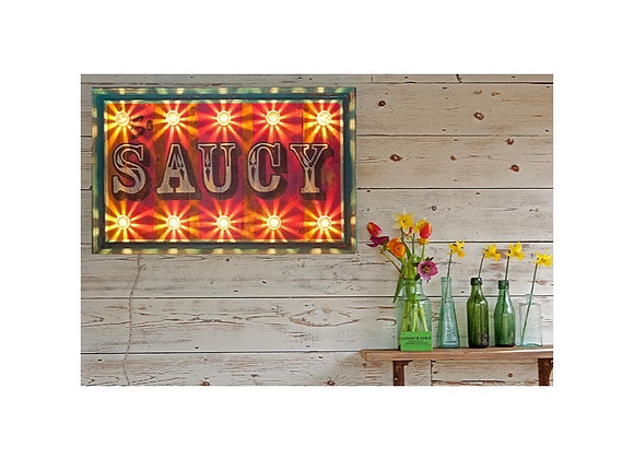 'So Saucy' Hand Painted Sign
