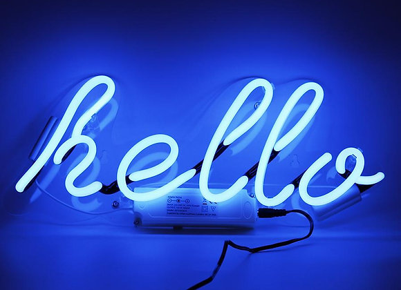 Neon Wall Decoration (Hello)
