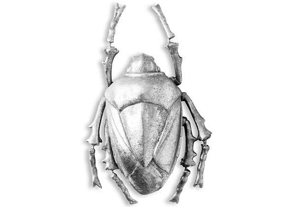 Quirky Large Silver Scarab Beetle Wall Decoration