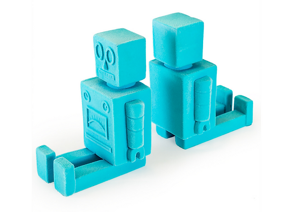 Quirky Flock Blue Robot Bookends (Pair)