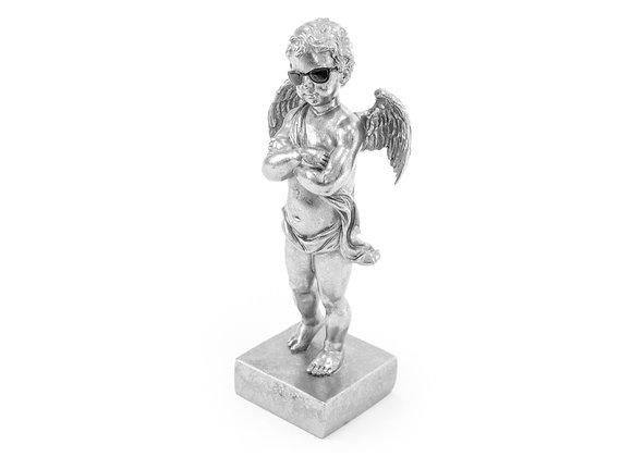 Silver Too Cool Cherub Figure