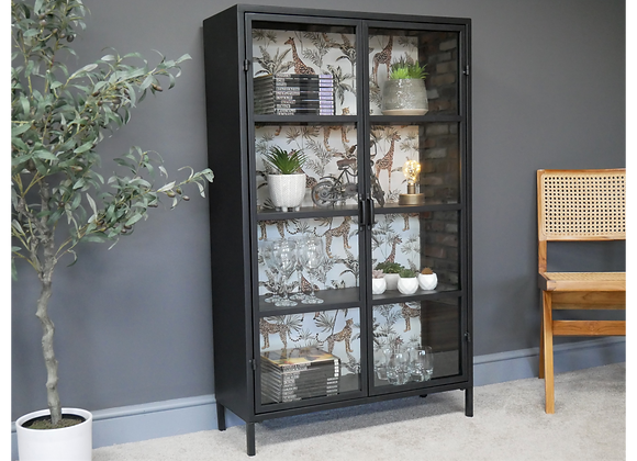 Stunning Metal Cabinet With Funky Wildlife Backdrop
