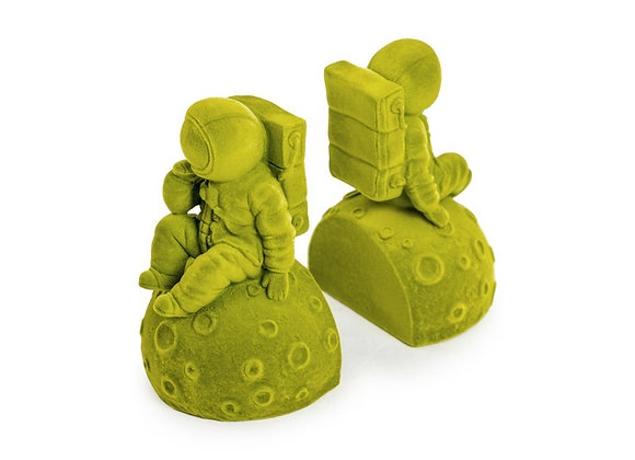 Funky Flock Green Astronaut Bookends (Pair)