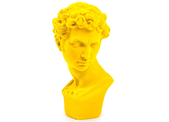 Bright Yellow Flock Classic Bust Ornament