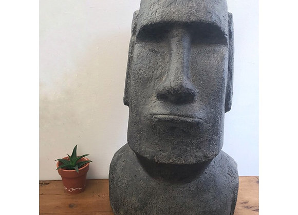 Large Stone Effect Easter Island Head Ornament