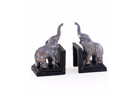 Elephant Cast Iron Bookends