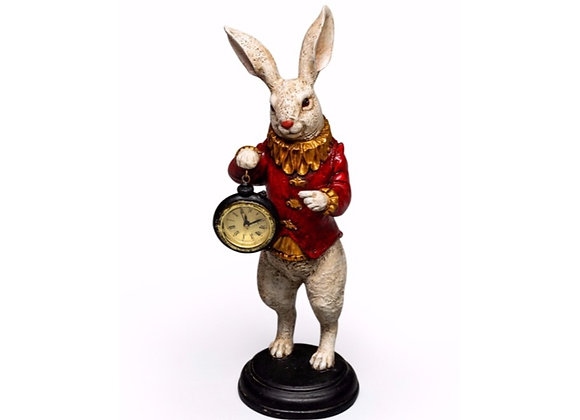 White Rabbit Clock Figure
