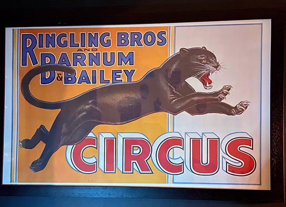 Framed Ringling Bros Vintage Circus Poster