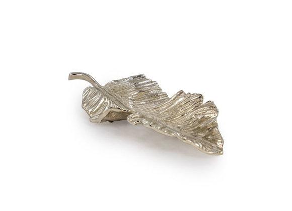 Extra Large Decorative Nickel Plated Aluminium Leaf Platter